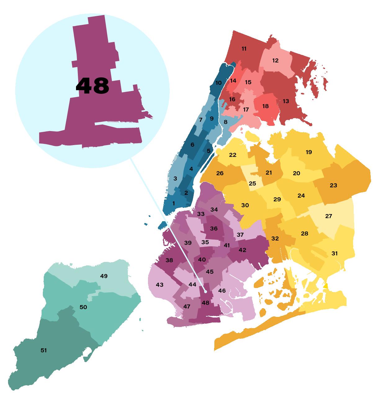 City Council District 48 map
