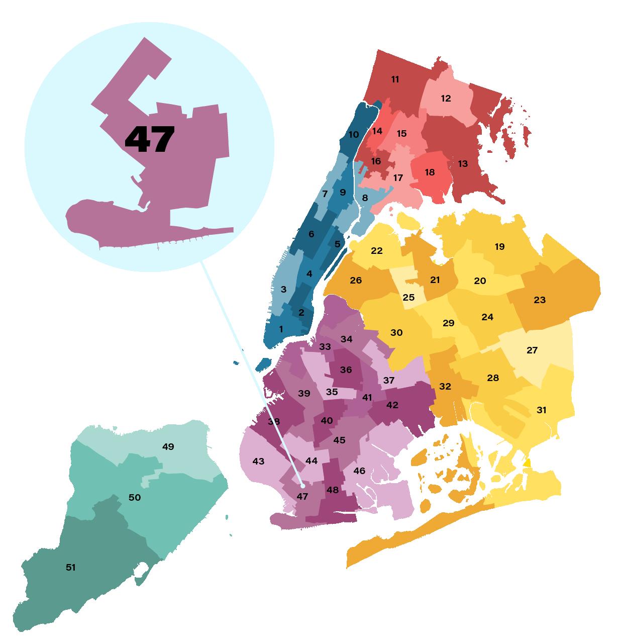 City Council District 47 Map