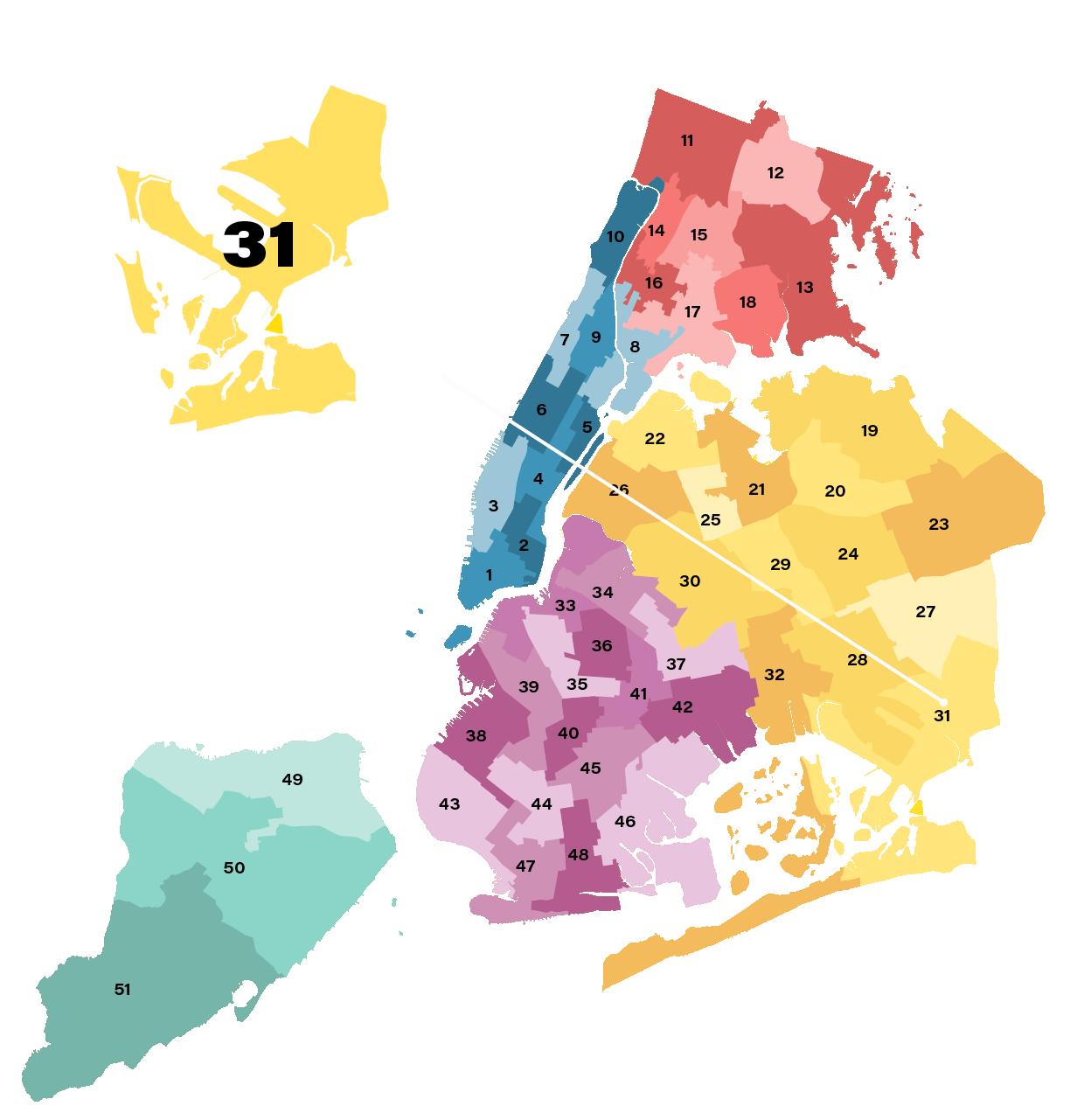 New York City District 31 Map