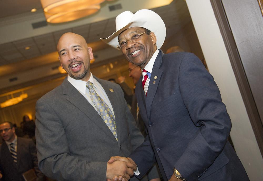Bronx Borough President Ruben Diaz Jr. and New York City Councilman Ruben Diaz Sr.