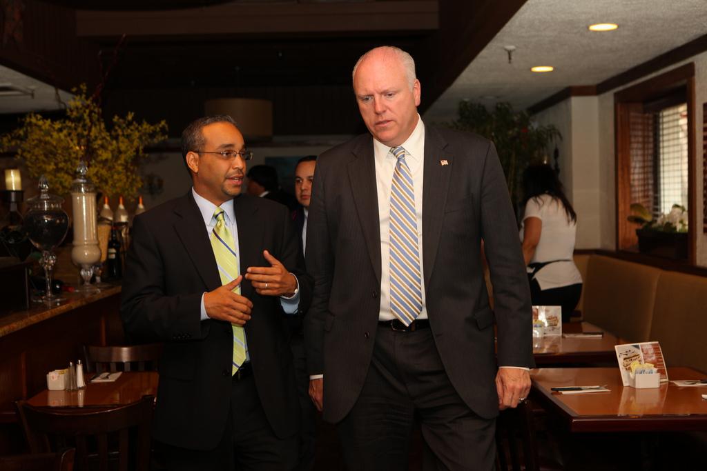 Rep. Joe Crowley with state Sen. Jose Peralta