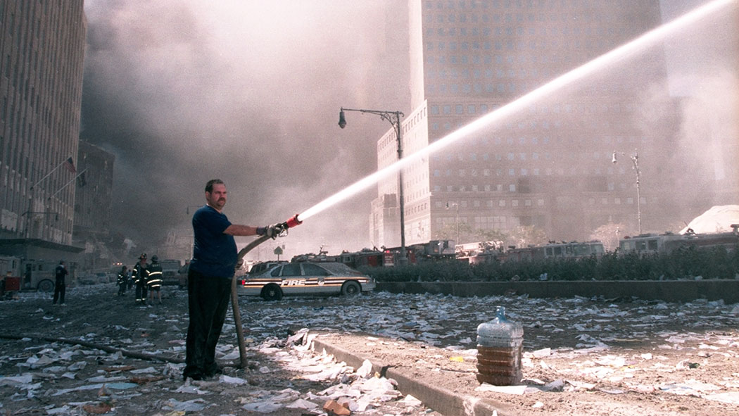 After the EPA's declaration that the air was safe, children were sent back to school blocks away from Ground Zero, while volunteers were still working to quench the flames.