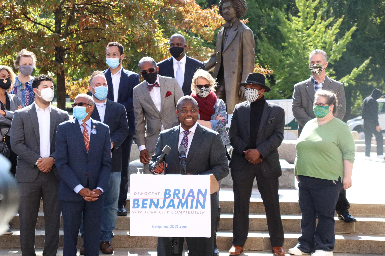 State Senator Brian Benjamin is running for New York City Comptroller.