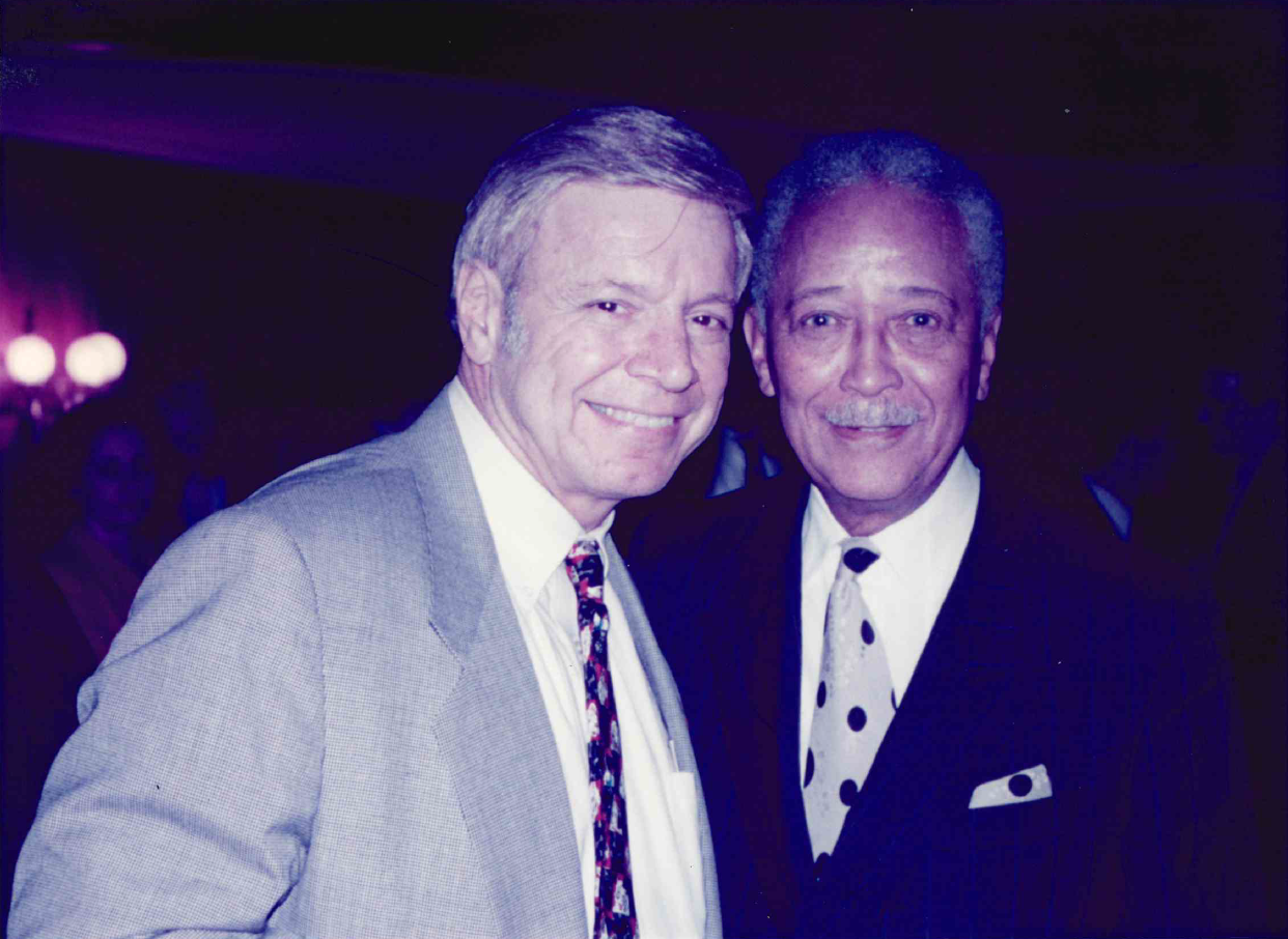 David Dinkins and Peter Vallone in 1995.