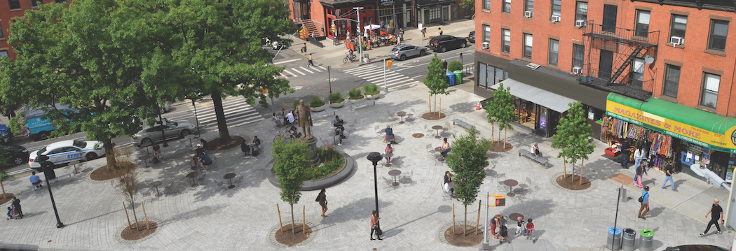 The Fulton Area Business Alliance recently completed two pedestrian plazas.