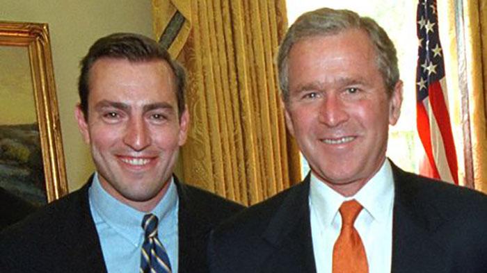 Former Congressman Vito Fosella and President George W. Bush.