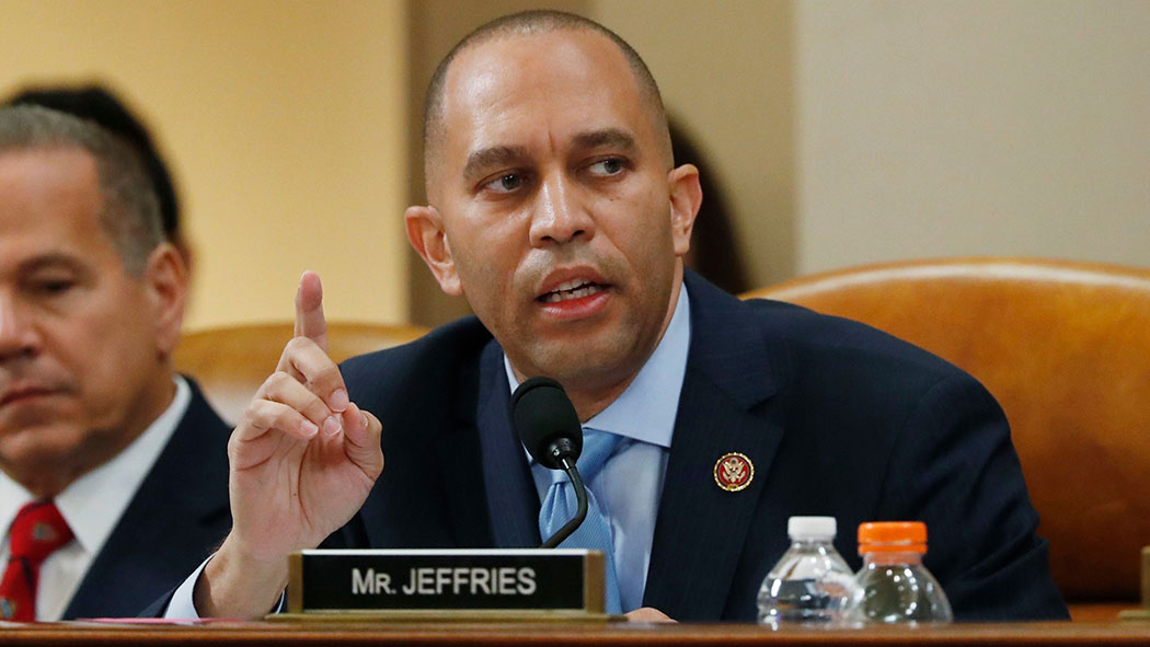 Rep. Hakeem Jeffries speaks during a House Judiciary Committee markup of the articles of impeachment against President Donald Trump.