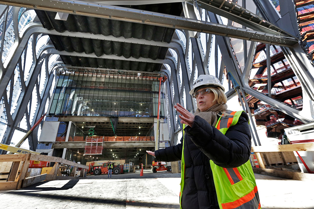 Laurie Beckelman, Associate Director of the Shed, describes ongoing Hudson Yard's construction.