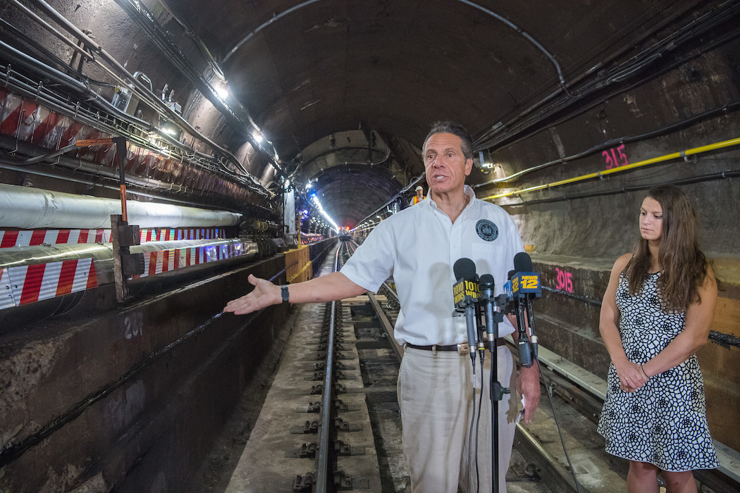 L Train Andy on the L tracks in September, 2019.