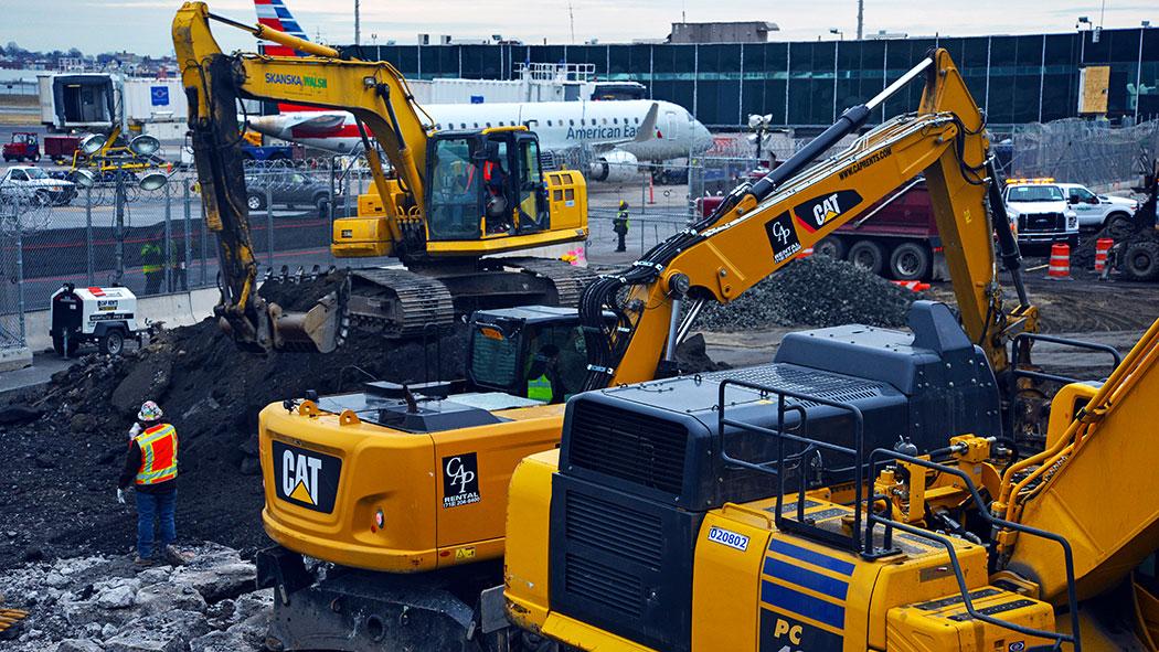 Ongoing Construction at LaGuardia Airport.
