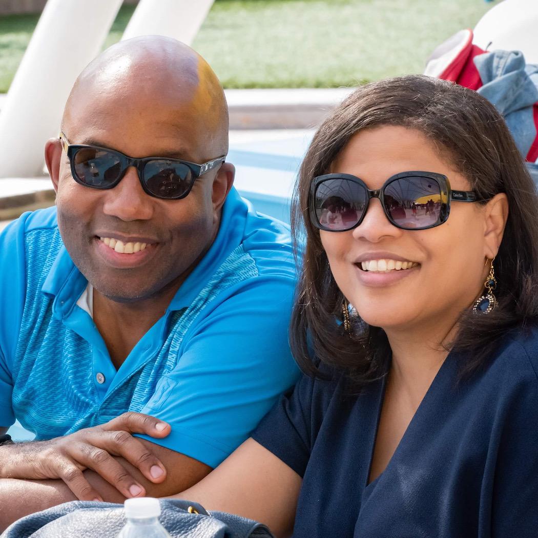 Errol Louis and Juanita Scarlett.