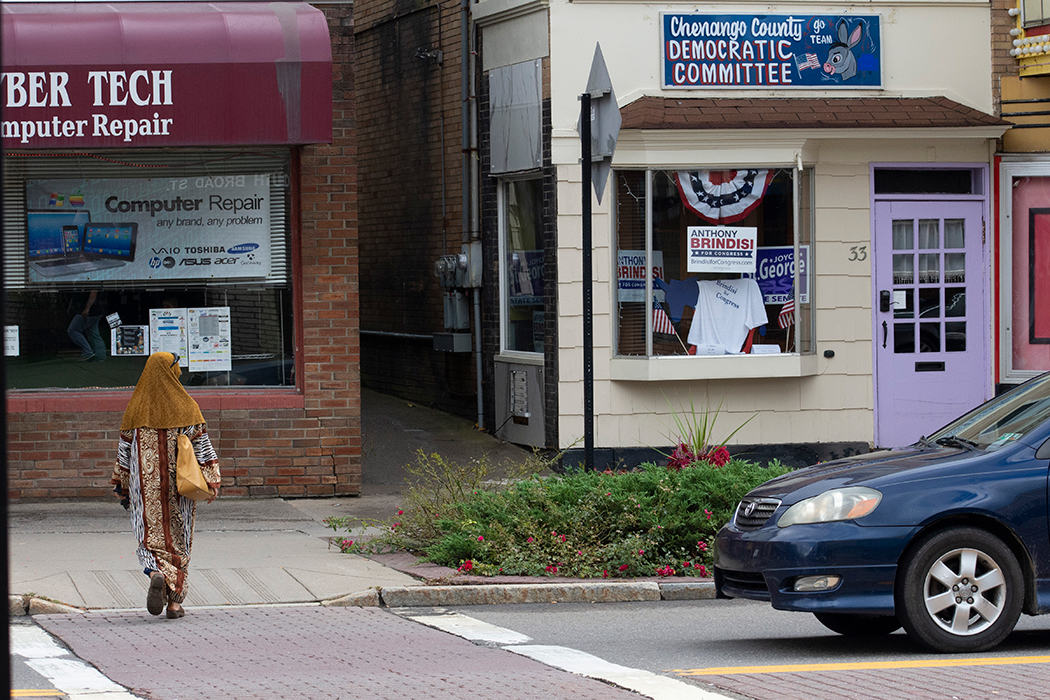 Democratic candidate Anthony Brindisi has field offices throughout the sprawling 22nd district, including in Norwich, a town on US12 highway.