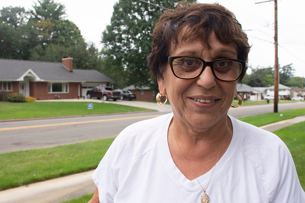 """Former state DMV commissioner Barbara Fiala outside her home in Vestal says that """"Tenney is too attached to the president, I think that's going to make the difference."""""""