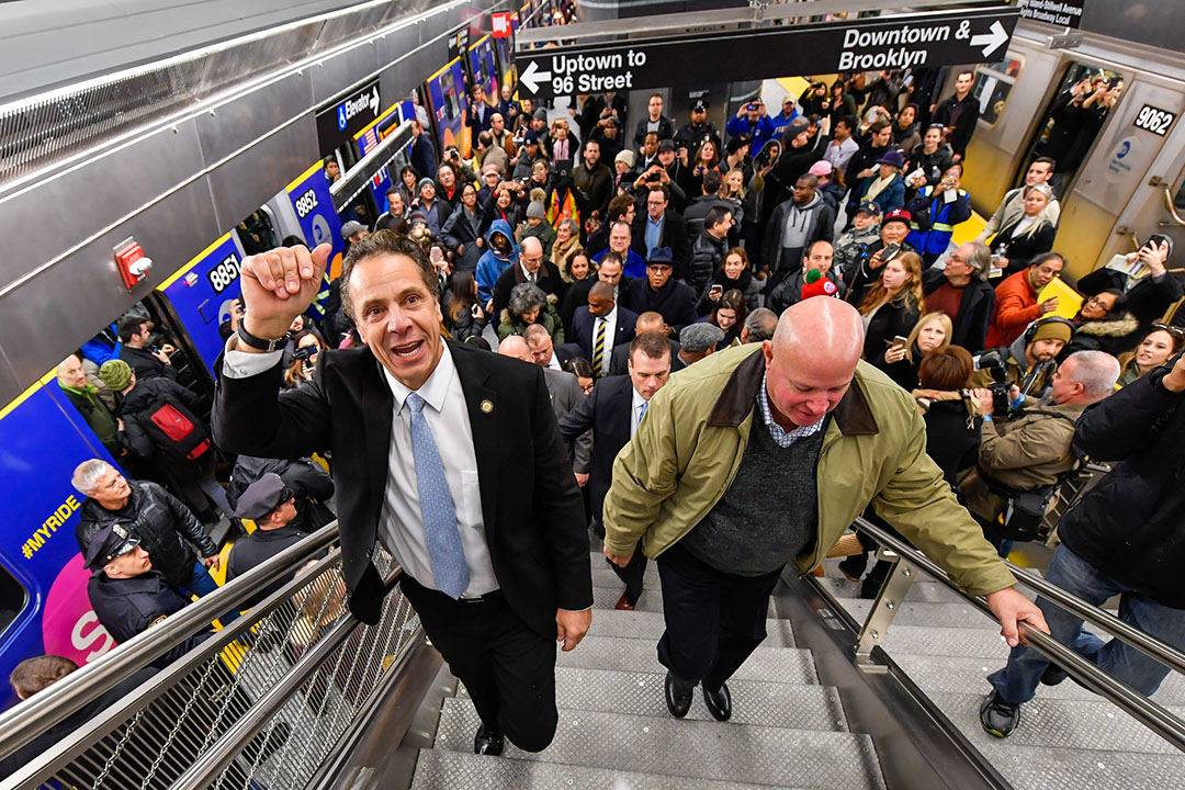 Governor Andrew Cuomo opens 2nd Avenue Subway at 96th Street Station.