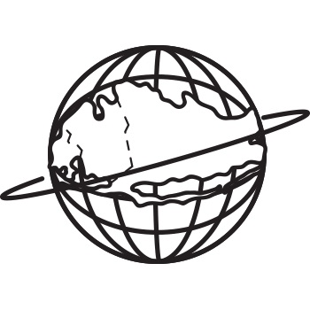 The Unisphere with the Rockaways on the globe