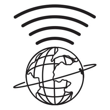 The Unisphere emitting a Wi-Fi signal