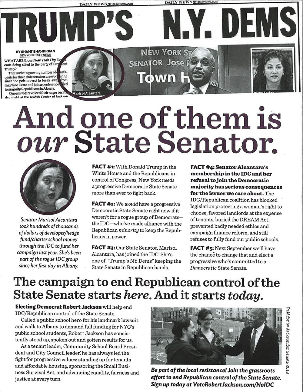 Robert Jackson 'Trump's Democrats' flier.