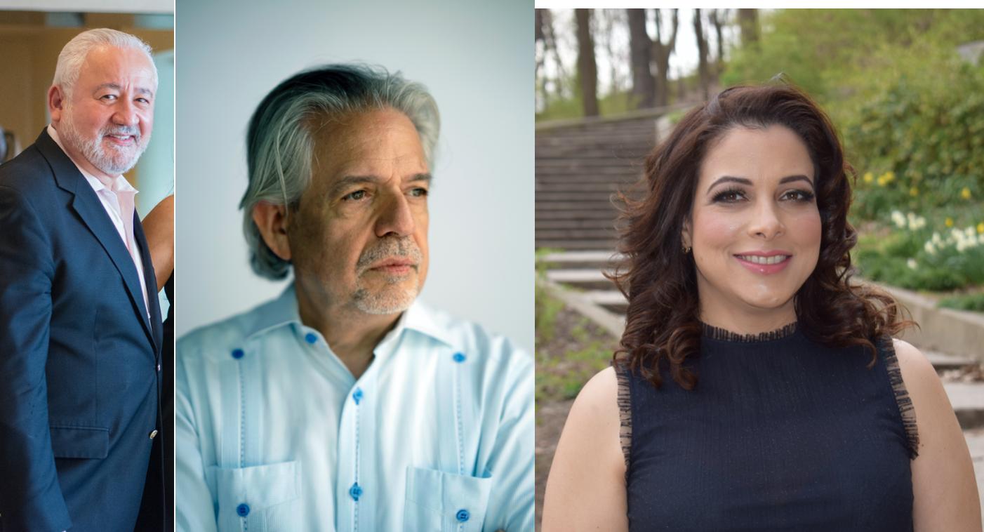 Roberto Ramirez, Luis Miranda, and Katharine Pichardo-Erskine.