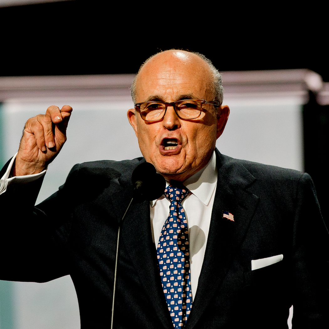 Former New York City Mayor Rudy Giuliani.