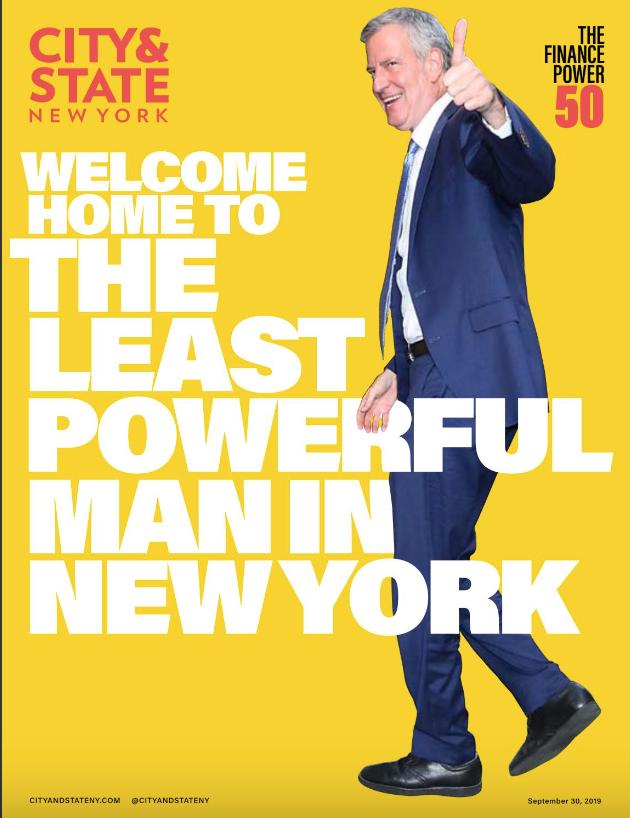Bill de Blasio, City & State's Sept. 30th cover.