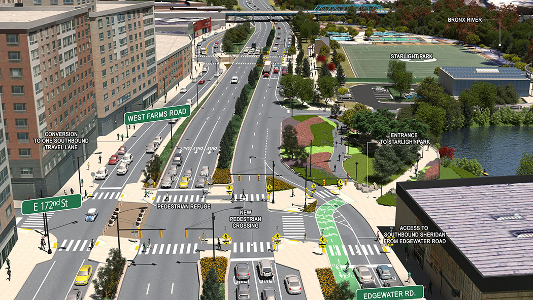 The Sheridan Expressway, currently a congested interstate highway, will be transformed into a boulevard, opening up access to shops and the waterfront in the South Bronx.