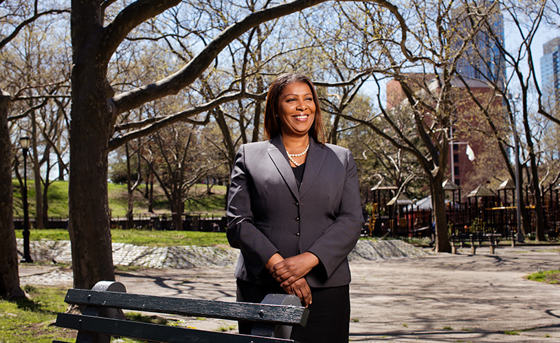 letitia james in a park