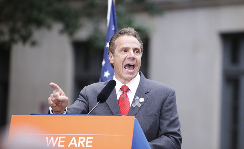 Andrew Cuomo screaming