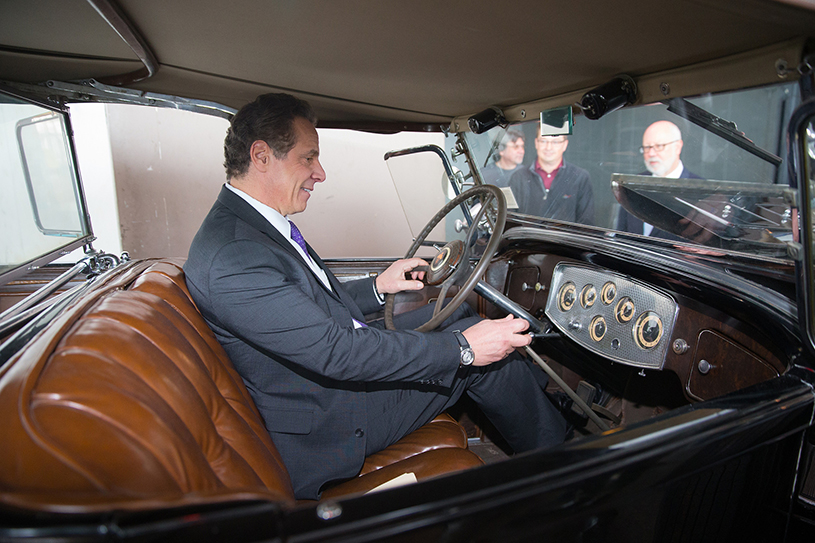 Andrew Cuomo in a car