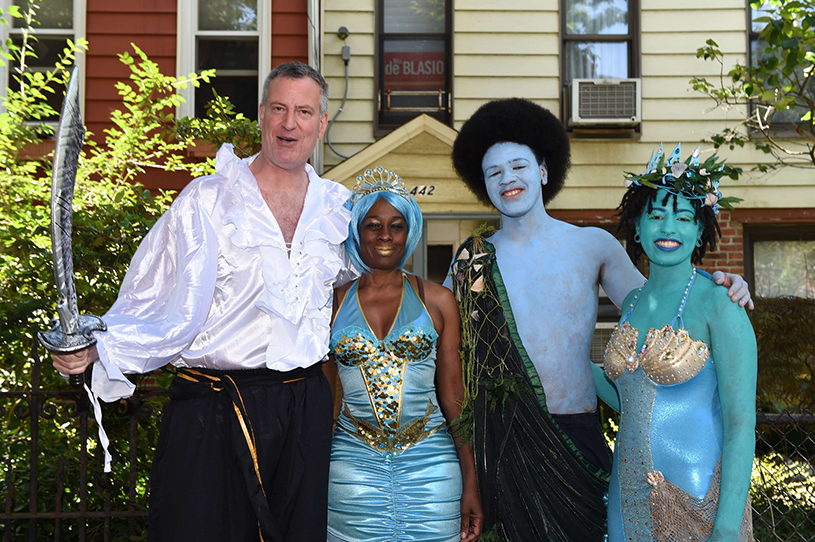 Bill de Blasio at the Mermaid Parade