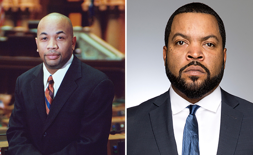 Assembly Speaker Carl Heastie and Ice Cube