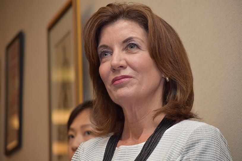 Kathy Hochul at the State of NY Women forum