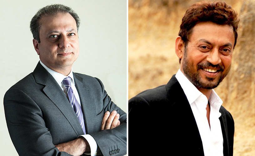 Preet Bharara and Irrfan Khan