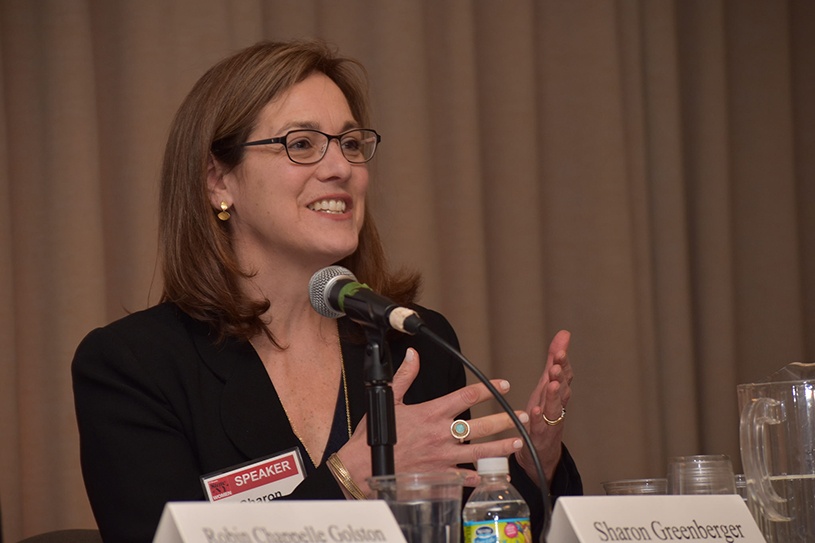 Sharon Greenberger at the State of NY Women forum