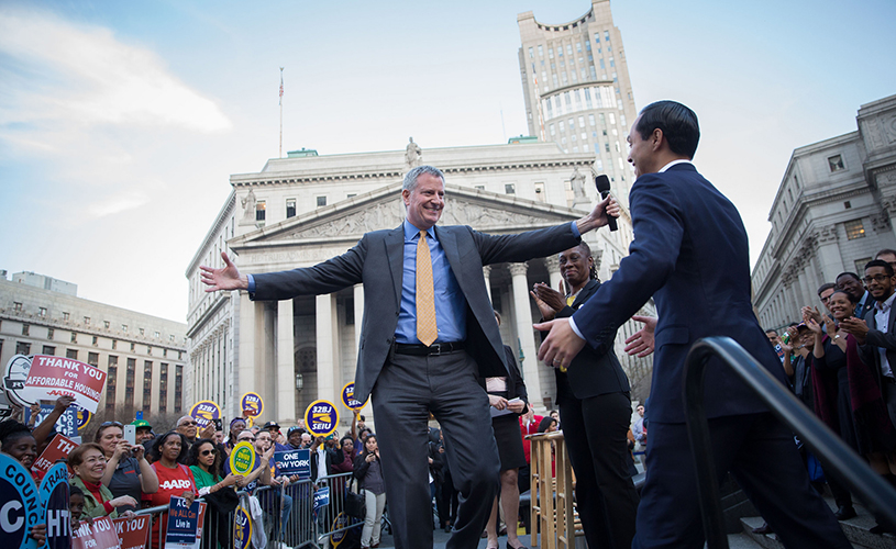 bill de blasio and julian castro