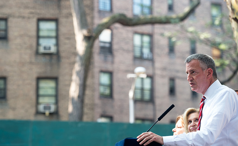 Bill de Blasio housing