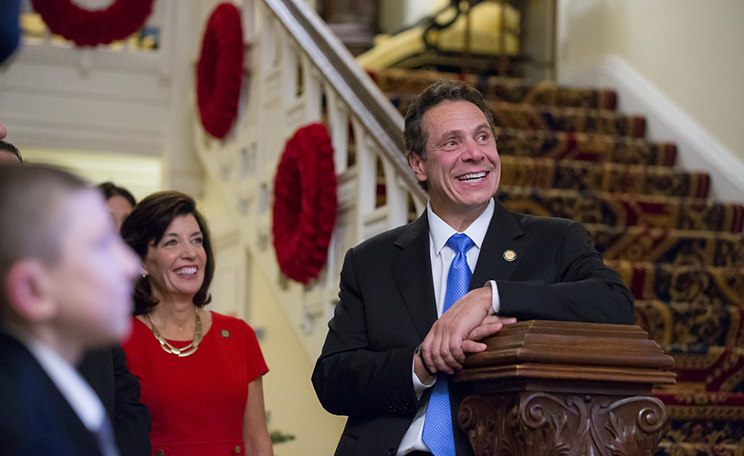 Andrew Cuomo and Kathy Hochul