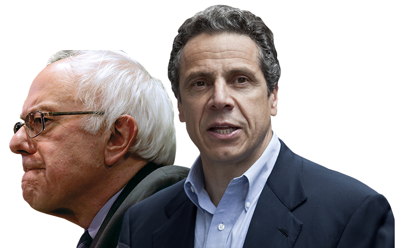 Bernie sanders and andrew cuomo