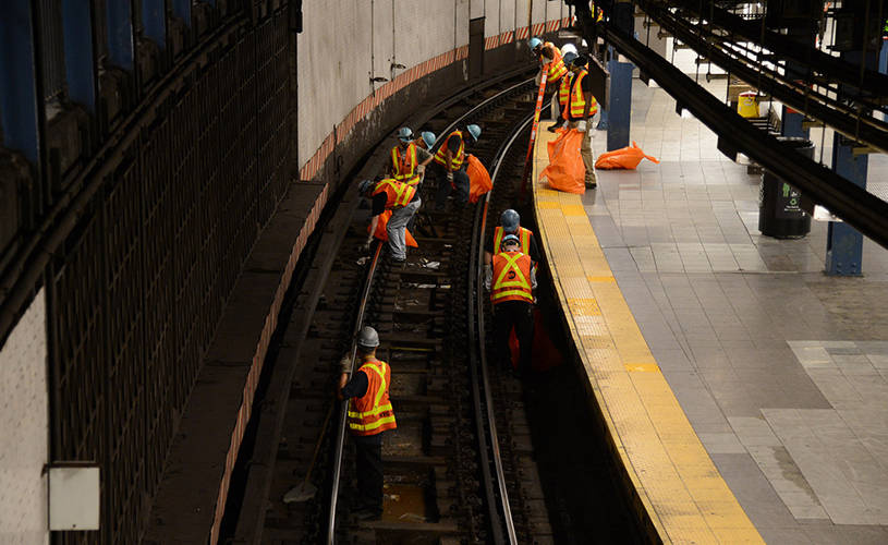 MTA subway track work