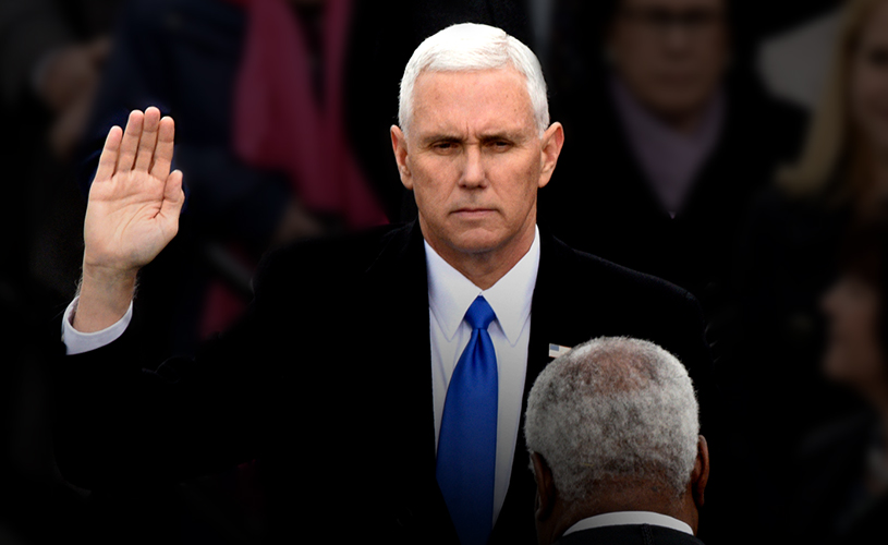 Mike Pence swearing in