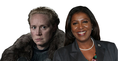 Brienne of Tarth and Letitia James