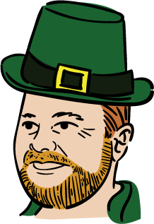 New York City Council Speaker Corey Johnson in Irish attire