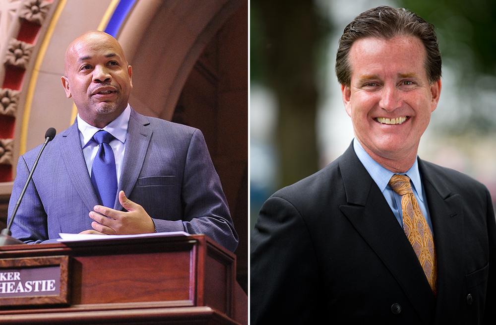 New York Assembly Speaker Carl Heastie and state Senate Minority Leader John Flanagan