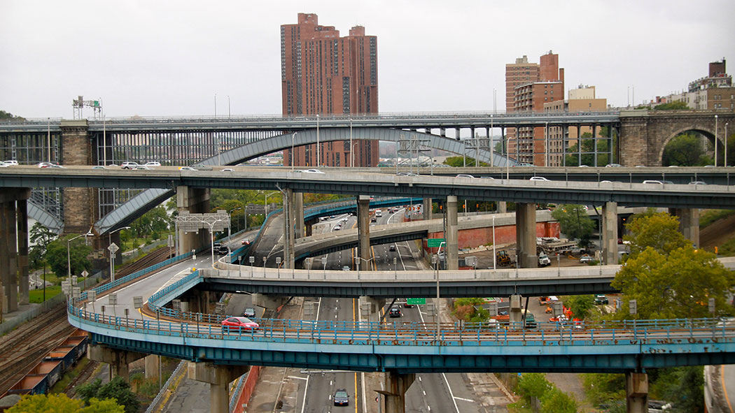 The ramps leading up to the Cross Bronx Expressway.
