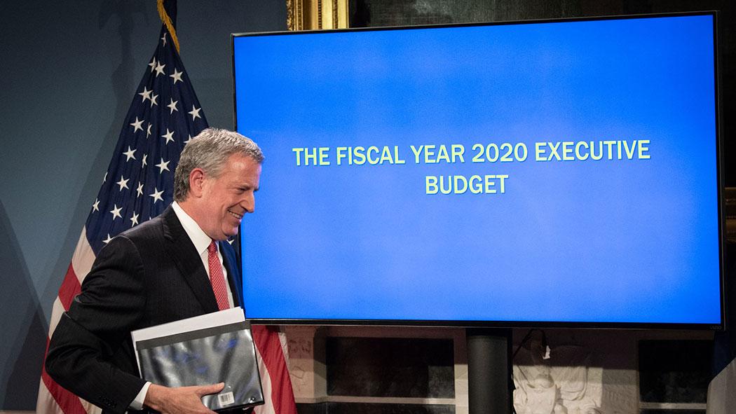 Mayor Bill de Blasio announces his Fiscal Year 2020 Executive Budget.