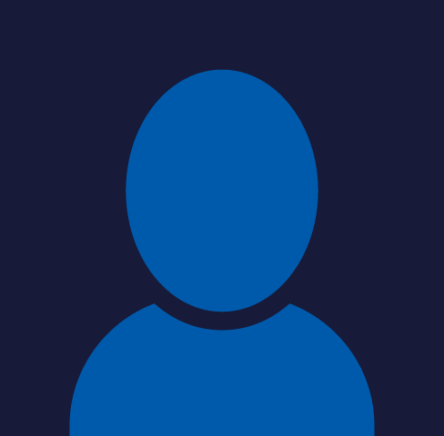 Placeholder blue outline avatar