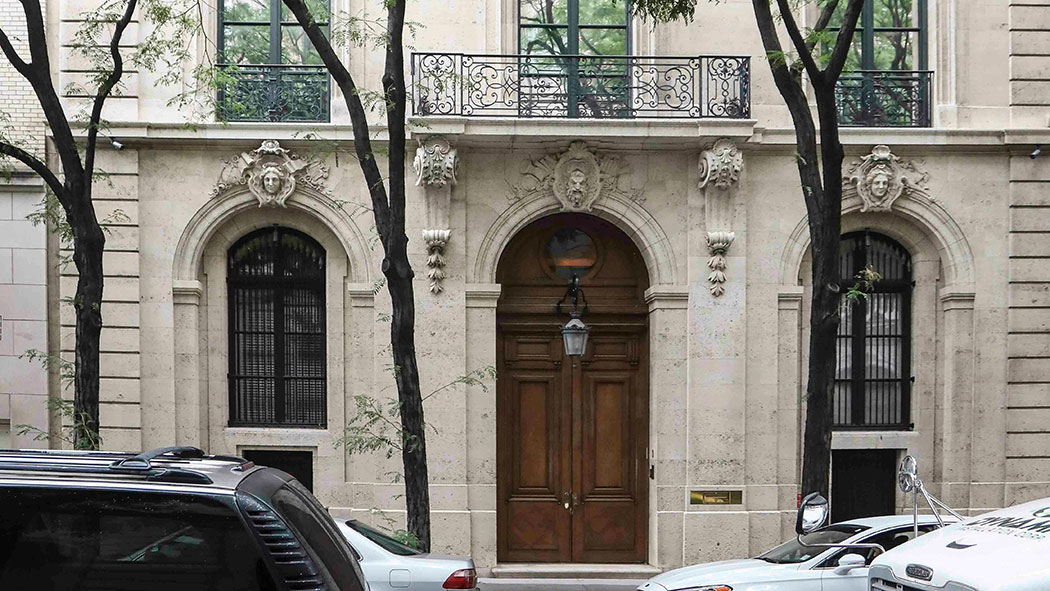Jeffrey Epstein's Manhattan residence.