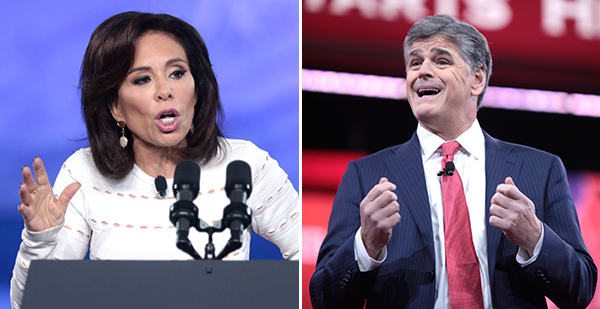 Jeanine Pirro and Sean Hannity