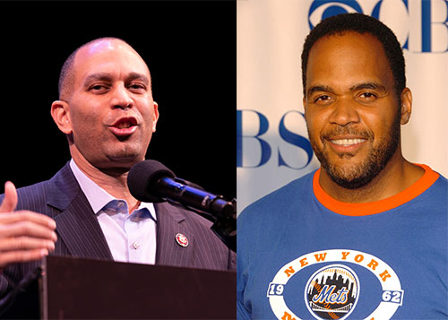 Rep. Hakeem Jeffries (left) and actor Victor Williams (right)