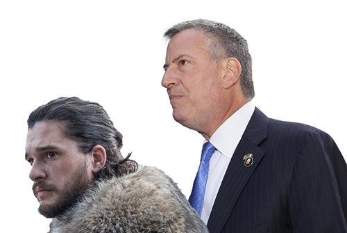 Jon Snow and Bill de Blasio