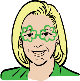 Sen. Kirsten Gillibrand in an Irish costume